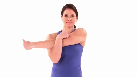 Stretches for stiff and sore shoulders   Essential Health Plus